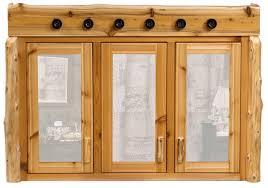 Rustic Wood Medicine Cabinet Cedar Log Medicine Cabinet W Light Bar Log Bathroom Cabinets