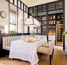 white kitchen windowed partition wall: designer colleen mcgill shares kitchen trends for large scale walk in pantries and wine rooms in a more classic style kitchen they can be hidden behind a