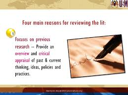Literature review topic Ithaca College Library The purpose of a literature review