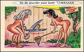 Afbeeldingsresultaat  voor naturisten cartoon
