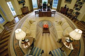 bushs rug left looks particularly good when compared to president obamas boring taupe right bush library oval office