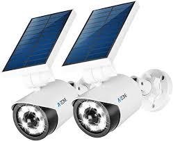 Wireless Security <b>Solar</b> Flood Light 800Lumens <b>8 LED</b> Spotlight with ...