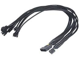 <b>Кабель Akasa</b> Flexa FP5 <b>Silent Smart</b> PWM Black Braided 45m AK ...