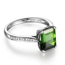 Custom Green Tourmaline Stone <b>Ring</b> Design | Wholesale <b>925</b> ...