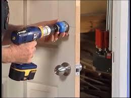 How To Install A Door Lock - DIY At Bunnings - YouTube