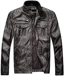 DHYZZ Men's <b>Winter</b> New Motorcycle Skin <b>Plus Cotton Casual</b> ...