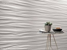 stick wall tiles quotxquot: atlas concorde wall design undulating three dimensional ceramic surface in a bright quotwhite mattquot shade to strengthen the light and shadow effect