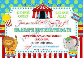 11 marvelous circus birthday party invitations theruntime com circus birthday party invitations as divine birthday invitation template designs for you 17920166