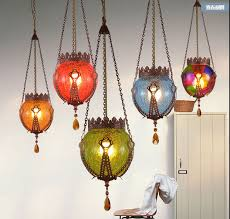 new southeast asian style cafe bar restaurant e27 colorful glass ball pendant light american retro creative asian style lighting