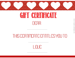valentine s gift certificates wording gift certificate dear this certificate entitles you to love