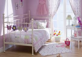 small teenage bedroom decor with broken white polished iron day f bed and stained wooden desk bedroom furniture for teens