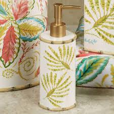 masks bathroom accessories set personalized potty: hawaiian bathroom accessories palm ceramic by dena home