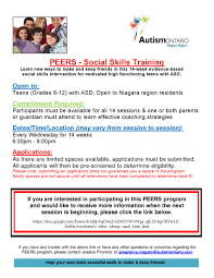 autism ontario social skills training programs the program will help participants learn new ways to make and keep friends while parents caregivers attend seperate but simultaneous sessions to learn how