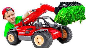 #<b>Машинки</b> Трактор <b>Погрузчик</b> #<b>BRUDER</b> для мальчиков Мультик ...