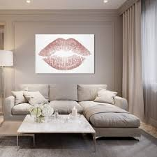 Shop Oliver Gal 'Rose Gold Solid <b>Kiss</b>' <b>Fashion</b> and <b>Glam</b> Wall Art ...