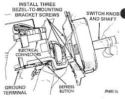 recall 819 97 Dodge Ram Headlight Switch Wiring Diagram install the switch knob and shaft on the new switch assembly by depressing the release button on the 1997 dodge ram headlight switch wiring diagram