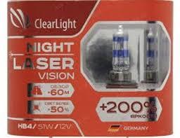 <b>Лампа автомобильная</b> галогенная <b>Clearlight HB4</b> 12V-51W Night ...