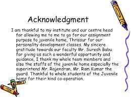 Frankfinn Personality Development Assignment