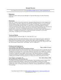 Example Resume  Objective Or Summary On Resume Great Resume