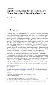 impact of civil justice reform on alternative dispute resolution inside