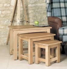 baumhaus mobel oak nest of 3 coffee tables baumhaus mobel solid oak medium wall mirror