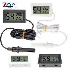 mini lcd digital thermometer hygrometer temperature indoor outdoor sensor humidity meter gauge instruments cable
