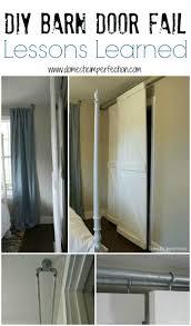 Closet Barn Doors Double Bypass Sliding Barn Door System A Diy Fail Domestic