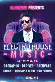 electro house music flyer psd template on behance