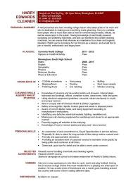 cleaner cv sample  cleaning of working surfaces and other    entry level cleaner resume