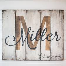 last name with est date rustic wooden sign made from reclaimed pallet wood antique unique pallet ideas