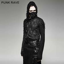 <b>PUNK RAVE</b> Men's T shirt <b>Punk Rock</b> Cool T shirt Casual Gothic ...