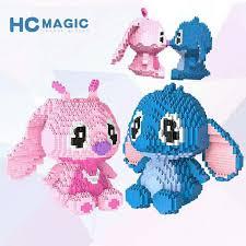 HC Magic Blocks Big size kawaii <b>Anime</b> Stitch Plastic Building ...