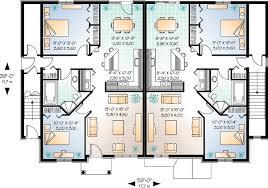 Brick FourPlex   DR   CAD Available  Canadian  Metric  PDF    Reverse Floor Plan Pinit white