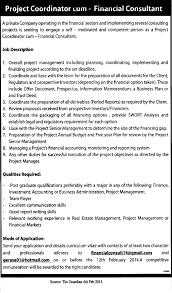 project coordinator job description com project coordinator cum financial consultant project coordinator job description healthcare