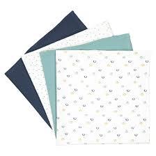 <b>Комплект</b> из 4 <b>пеленок</b> 100% хлопок синий + рисунок La Redoute ...