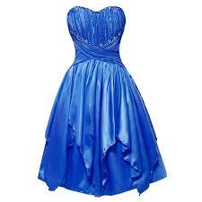 <b>Tanpell</b> strapless cocktail <b>dress</b> elegant royal blue sleeveless ...