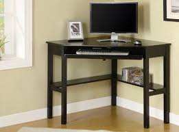 l black painted oak wood corner computer desk which equipped with storage shelves 930x691 awesome black painted