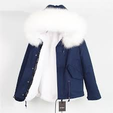 <b>Real Raccoon Fur</b> Collar Hooded Parka in <b>2019</b> | <b>Real Raccoon Fur</b> ...