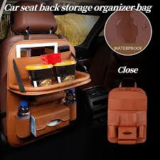 <b>1PC</b> Car Seat Back Storage Organizer Hang Bag <b>Multi pocket</b> PU ...