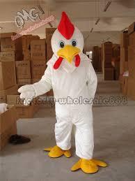 Halloween White <b>Chicken</b> Rooster <b>Mascot</b> Costume fancy Dress ...