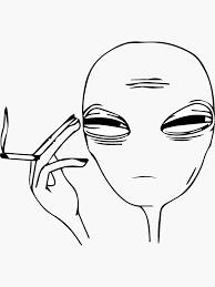 <b>Alien Smoking Weed</b> Stickers | Redbubble
