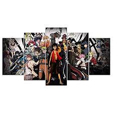 klmkjm <b>Anime</b> Characters Print Canvas Decoration <b>5 Pieces</b>