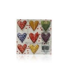 "<b>Бумажные салфетки Bouquet Original</b> de Luxe "" Сердца "" , 2х ..."
