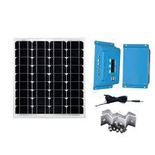 <b>Solar Kit Solar Panel</b> 18v 50w <b>12v</b> Led Lights Camping Battery ...