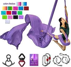 <b>Aerial Yoga</b> Hammock <b>Aerial</b> Silks Deluxe Equipment Set for <b>Aerial</b> ...