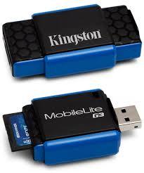 Миниатюрный кардридер <b>Kingston</b> MobileLite G3 с USB 3.0