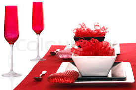 decorate valentine lunch table  romantic dinner valentines
