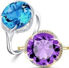 <b>Everoyal</b> Shiny <b>Crystal</b> Blue Round Rings Jewelry For Women ...