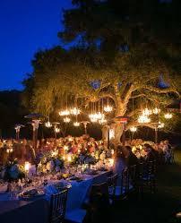 chandeliers outdoor wedding backyard wedding lighting