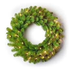 "24"" <b>Royal</b> Fir Artificial <b>Christmas</b> Wreath <b>LED Lights</b> (3D <b>Battery</b> ..."